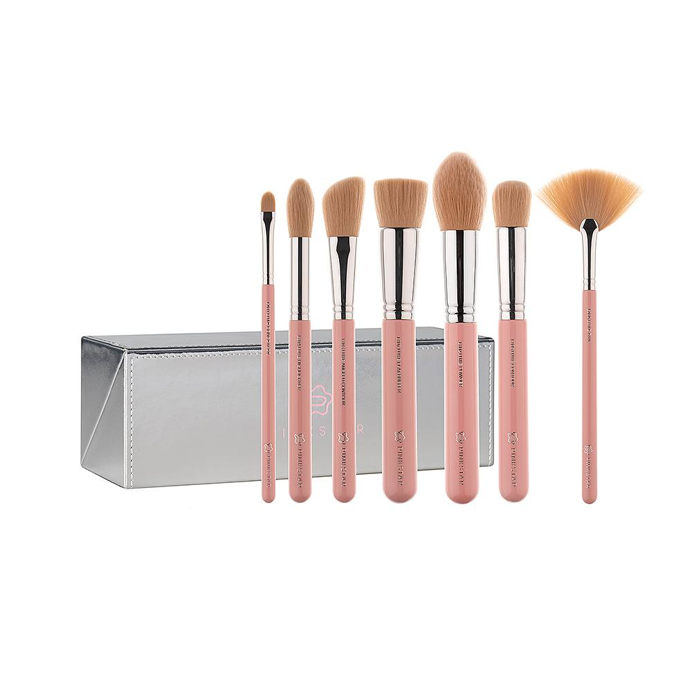 LUXE FACE MUST BRUSH SET SILVER SLFM